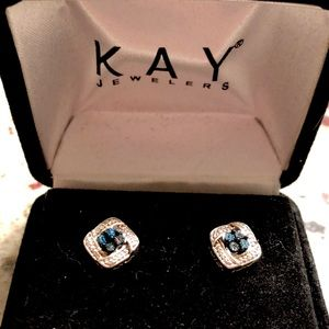 Kay Jewelers Sapphire/ Diamond earrings